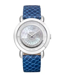 Gv2 40Mm Catania Watch W Diamond Bezel And Leather Strap Teal