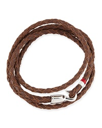 Miansai Braided Leather Bracelet Brown