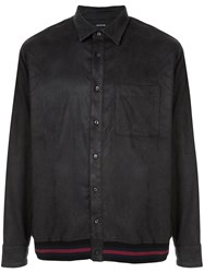 Loveless Ribbed Trim Shirt Black