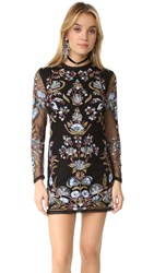 Free People Royal Bodycon Mini Dress Black Combo