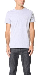 Lacoste Pima Jersey T Shirt Silver Grey Chine