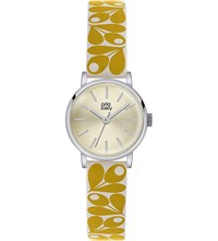 Orla Kiely Ok2037 Patricia Leather And Stainless Steel Watch Champagne