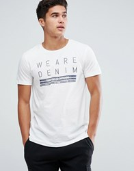 Tom Tailor T Shirt With Front Print 2132 White