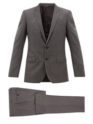 Dolce And Gabbana Martini Fit Virgin Wool Two Piece Suit Grey