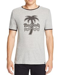 Marc Jacobs Palm Tree Graphic Ringer Tee Gray Melange