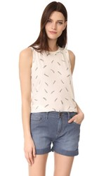 Current Elliott The Feather Muscle Tee Dirty White White Feathers
