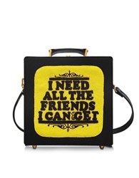 Olympia Le Tan 7 Inch I Need All The Friends I Can Get Cotton Handbag Black