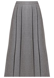 Kiomi Pleated Skirt Dark Grey Melange Mottled Dark Grey