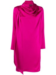 Gianluca Capannolo Draped Neck Dress Pink