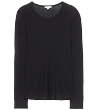 James Perse High Gauge Cotton Top Black