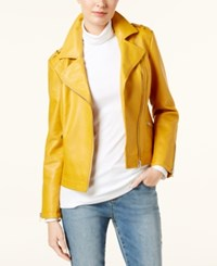 Inc International Concepts Petite Faux Leather Moto Jacket Created For Macy's Polished Gold