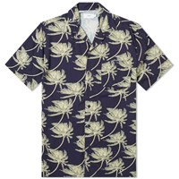 Onia Palm In Wind Vacation Shirt Blue