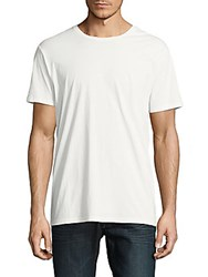 Earnest Sewn Solid Cotton Tee White