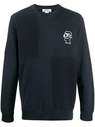 A.P.C. Embroidered Jumper Blue