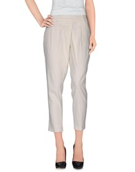 Trussardi Jeans Casual Pants Ivory