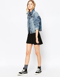 Blend She Zima Skater Skirt Black