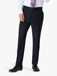 Jaeger 120S Wool Twill Regular Fit Suit Trousers Navy