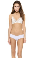 Only Hearts Club So Fine Triangle Racer Back Bralette Creme