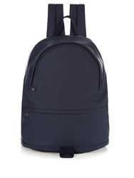A.P.C. Alexandre Rubberised Leather Backpack Navy