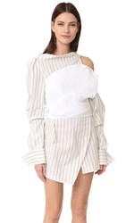 Jacquemus Harlequin Dress White Off White Blue Striped