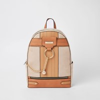 River Island Beige Chain Front Backpack
