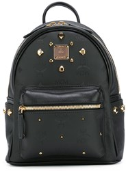 Mcm Studded Backpack Black