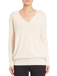 The Row Sabry Cashmere V Neck Sweater