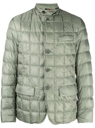 Fay Quilted Puffer Jacket Green