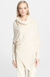 Donna Karan Collection Asymmetrical Slouchy Cashmere Tunic Parchment