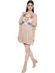 Temperley London Floral Embroidered Lace And Chiffon Dress
