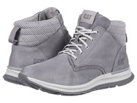 Caterpillar Casual Starstruck Light Grey Leather Suede Knit Shoes Gray