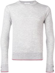 Thom Browne Classic Cashmere Crewneck Pullover Grey