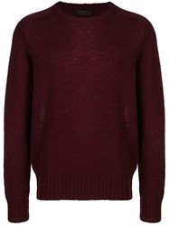 Prada Crewneck Sweater Red