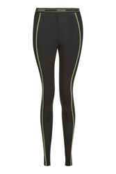 Topshop Fluro Stitch Leggings Fluro Yellow