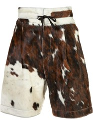 Vivienne Westwood Man Cow Skin Shorts Brown