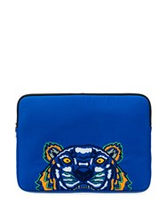 Kenzo Embroidered Pouch Bag Blue
