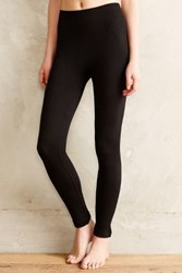 Anthropologie Fleece Lined Cable Leggings Black