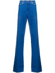 Kiton Straight Leg Trousers Blue