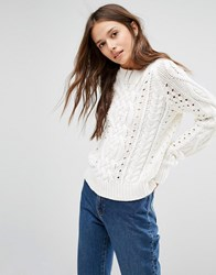 Gestuz Cable Knit Jumper Cream