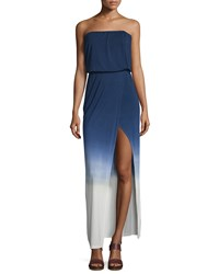 Young Fabulous And Broke Amari Strapless Maxi Dress Navy Ombre