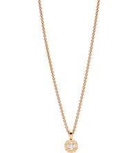 Bulgari Bvlgari Bvlgari 18Ct Pink Gold And Diamond Necklace