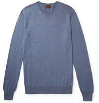 Altea Cotton And Cashmere Blend Sweater Blue