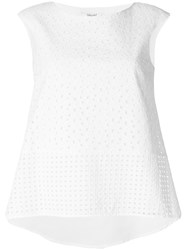 Blugirl Embroidered Tank Top White