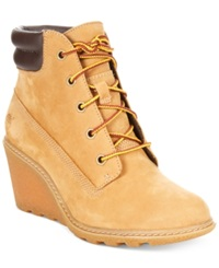 Timberland Women's Earthkeepers Amston Wedge Booties Women's Shoes Wheat