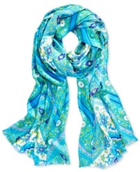 Inc International Concepts Iconic Paisley Print Scarf Only At Macy's Aegean Medium Blue