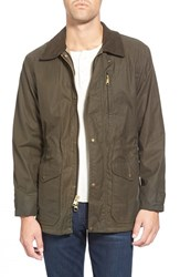 Men's Filson 'Cover Cloth Mile Marker' Waxed Cotton Coat Otter Green