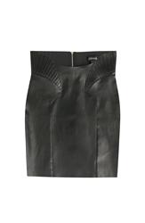 Jitrois High Waisted Leather Skirt