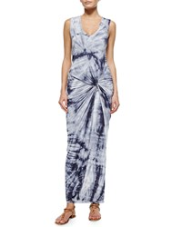 Young Fabulous And Broke Sleeveless Knotted Maxi Dress Gray Dreamer Grey Dreamer
