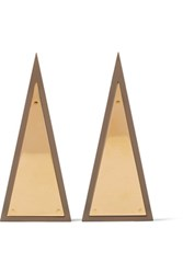 J.W.Anderson Gold Plated Resin Earrings One Size