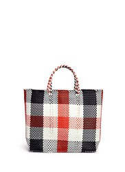 Truss Medium Woven Plaid Pvc Tote Multi Colour